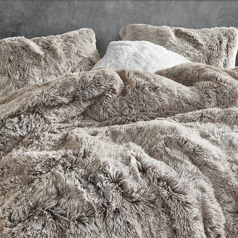 Are You Kidding Stylish Frosted Chocolate Coma Inducer Twin, Queen, or King Oversized Comforter Set