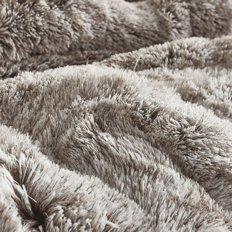 High Quality Plush Twin, Queen, or King Extra Large Bedding Luxury Coma Inducer Frosted Chocolate Brown