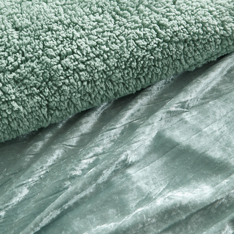 Machine Washable Coma Inducer Comforter Stylish Crinkle Iced Green Twin XL, Queen XL, or King XL Bedding Blanket