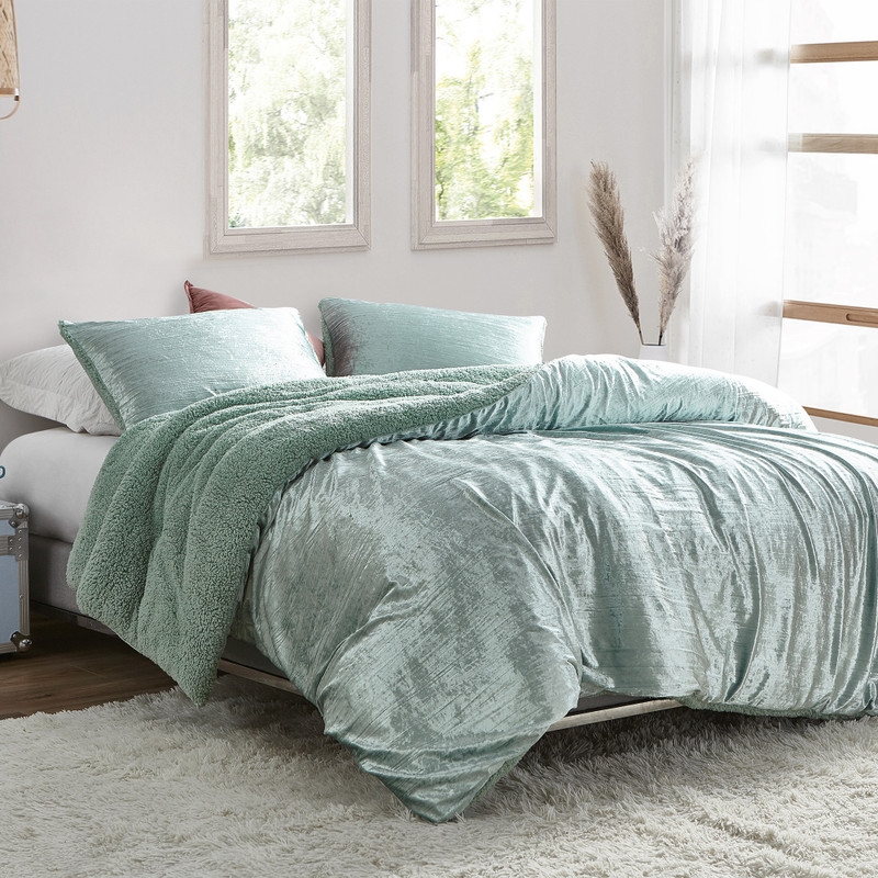 Green Twin, Queen, or King Oversized Comforter for Unique Bedroom Decor Style