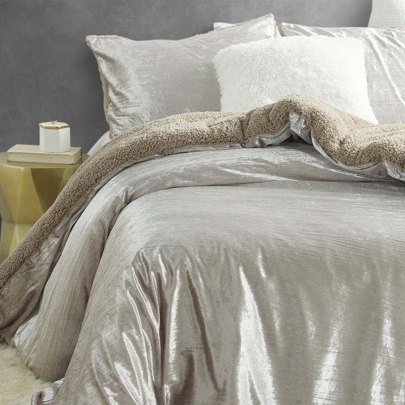Easy to Match Oversized Twin, Queen, or King Bedding Decor Crinkle Iced Almond Coma Inducer Plush Bedding