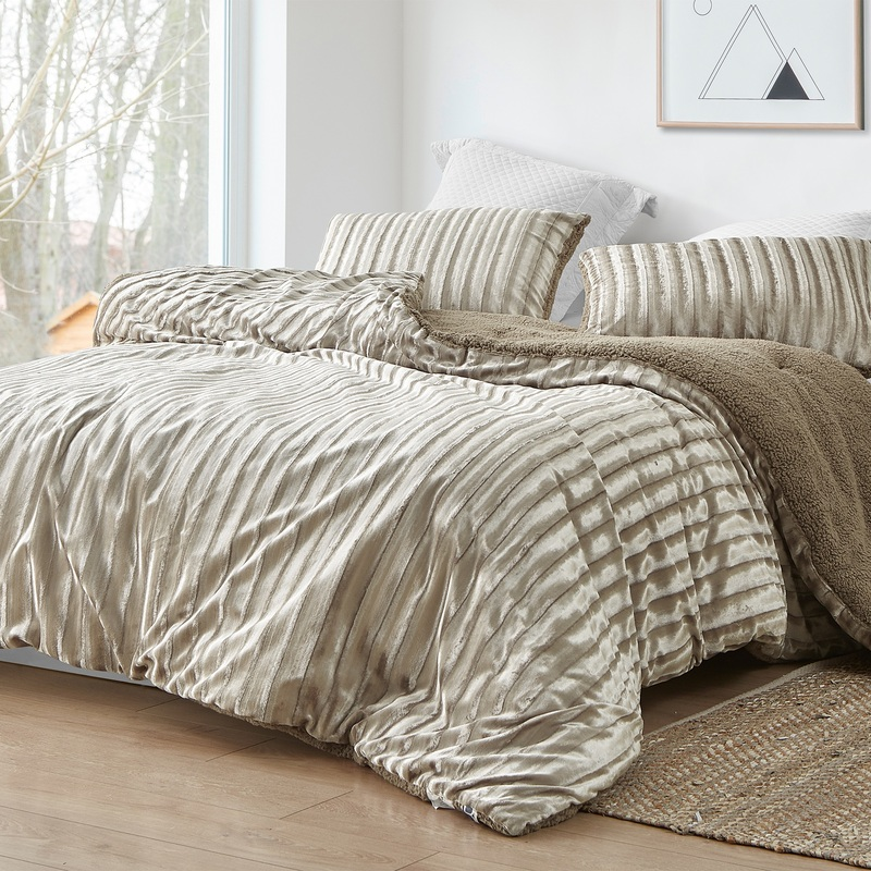 Extra Large Twin, Queen, or King Comforter with Matching Plush Pillow Shams