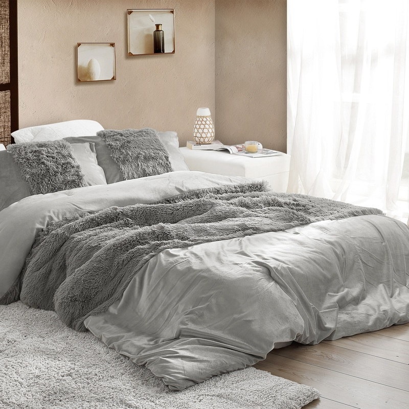 Machine Washable Extra Large Twin, Queen, or King Comforter Coma Inducer Are You Kidding Greyness