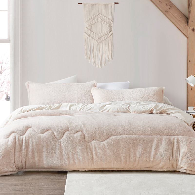 Creamy Off-White King Extra Large Comforter with Matching King Pillow Shams