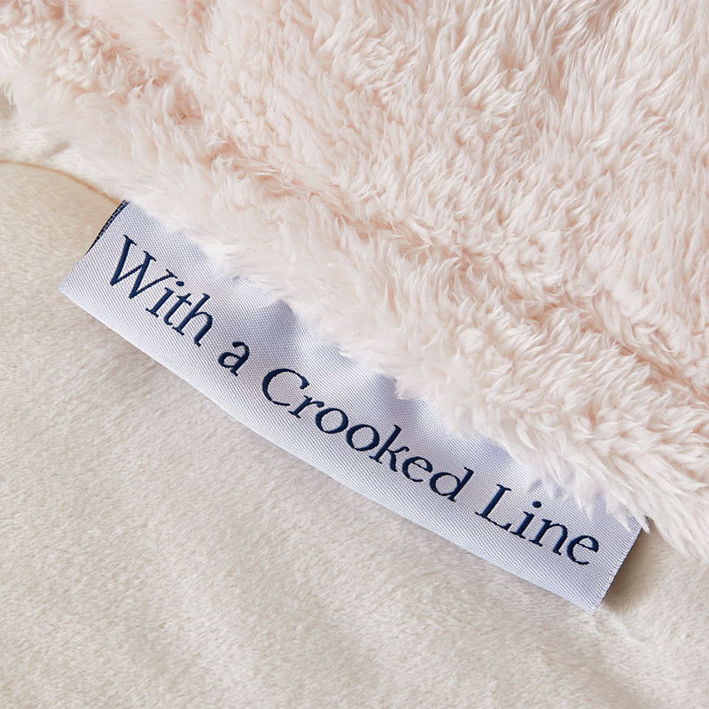King Sized Soft Plush Comforter with a Message That God Makes it Straight with a Crooked Line