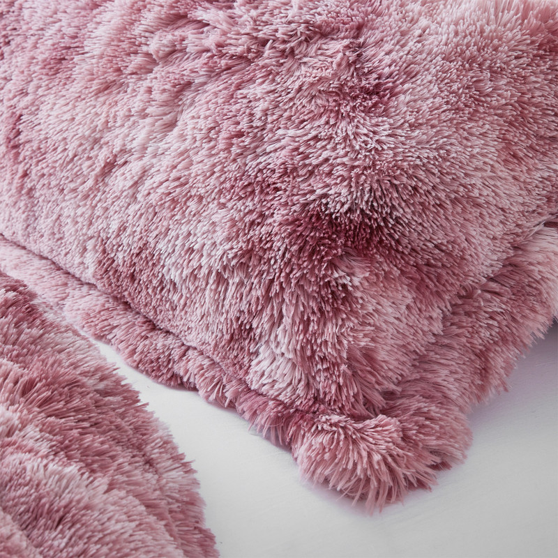 Machine Washable Pink Twin XL, Queen XL, or King XL Plush Comforter Set