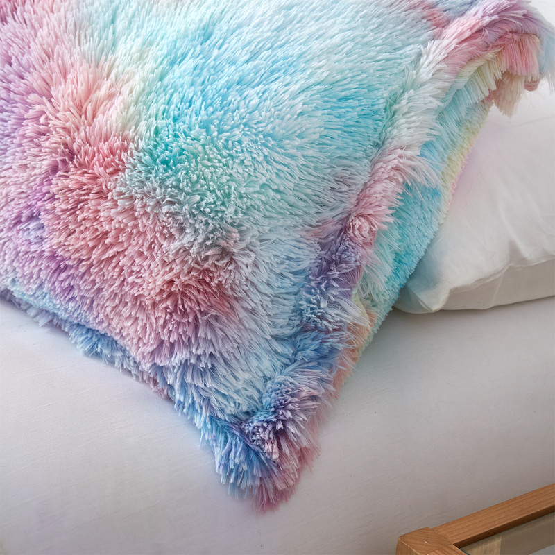 Trendy Bedding Decor Colorful Tie-Dye Twin, Queen, or King Oversized Plush Bedding