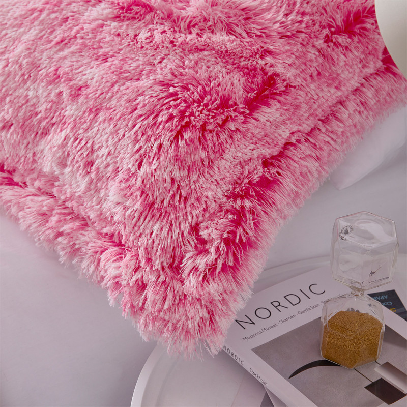 Bright Pink Twin XL, Queen XL, or King XL Bedding Blanket with Matching Pillow Shams