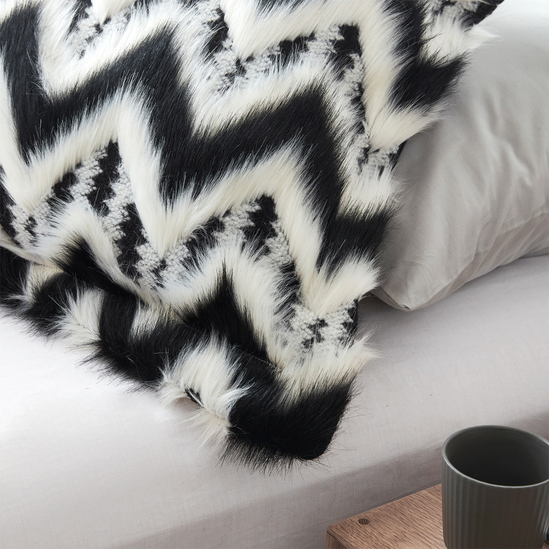 One-of-a-Kind Twin XL, Queen XL, or King XL Bedding with Stylish Chevron Design