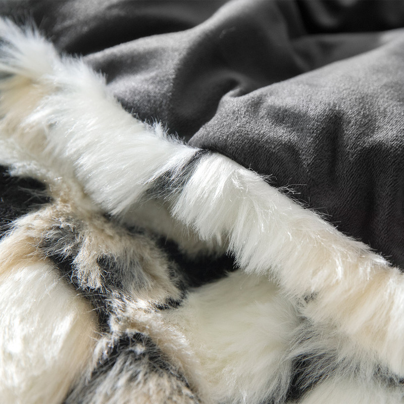 Plush Twin, Queen, or King Coma Inducer Blanket with Extra Long and Extra Wide Bedding Dimensions
