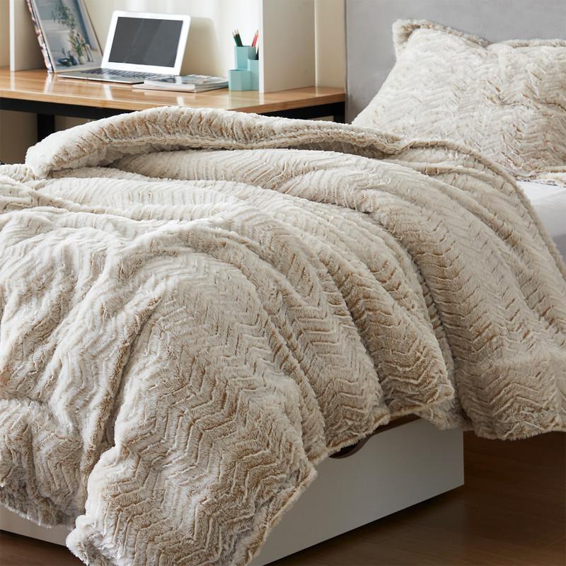 Luxury Machine Washable Twin XL, Queen XL, or King XL Plush Comforter Set