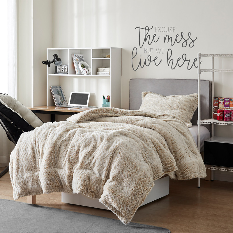 Frosted Taupe Coma Inducer Blanket Ultra Cozy Twin, Queen, or King Extra Large Bedding Set