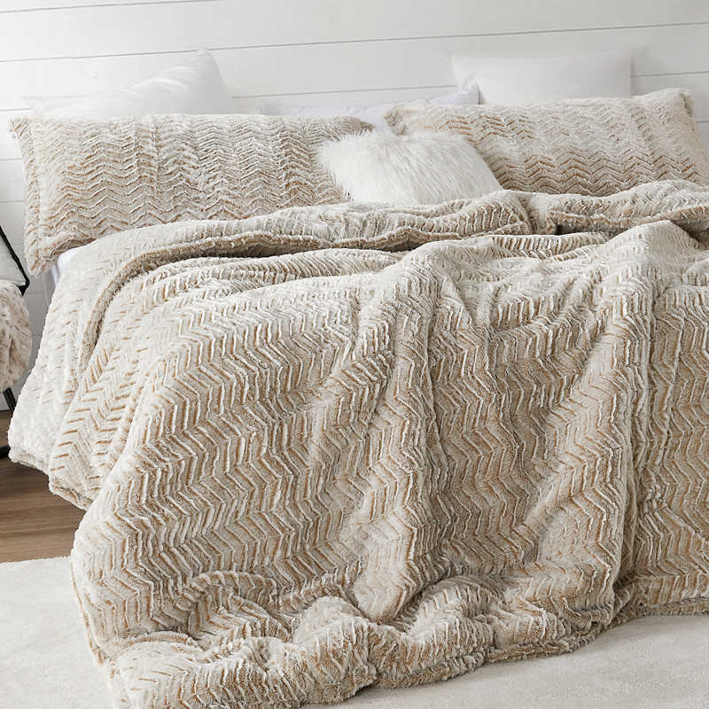 Neutral Taupe XL Twin, XL Queen, or XL King Plush Coma Inducer Bedding