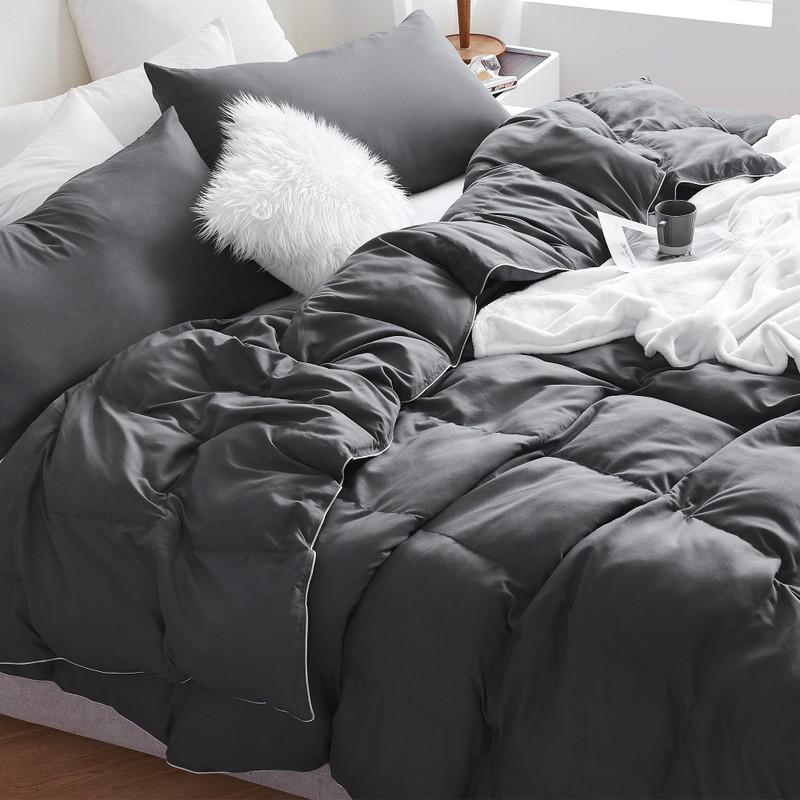 Spring and Summer Supersoft Comforter Set Oversized Faded Black Bedding Blanket