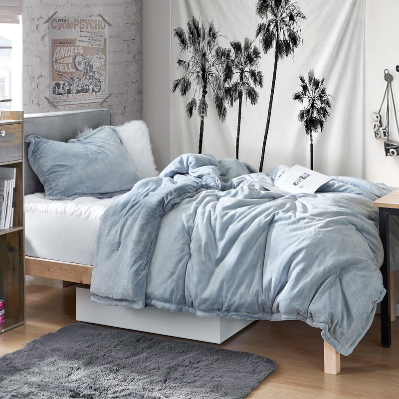 Extra Long Twin, Queen, or King Frosted Blue Comforter