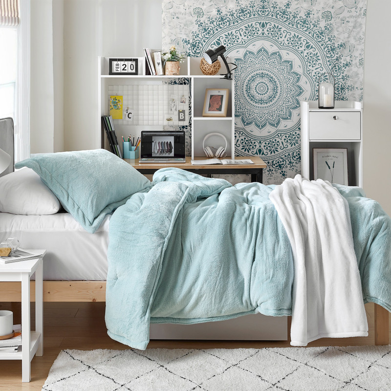 Coma Inducer Set with Extra Large Twin, Queen, or King Comforter and Matching Pillow Shams