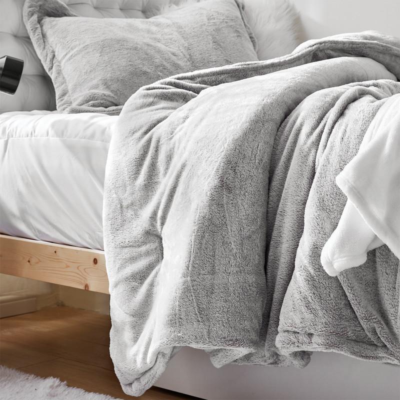 Machine Washable Plush Oversized Comforter with Matching Pillow Shams