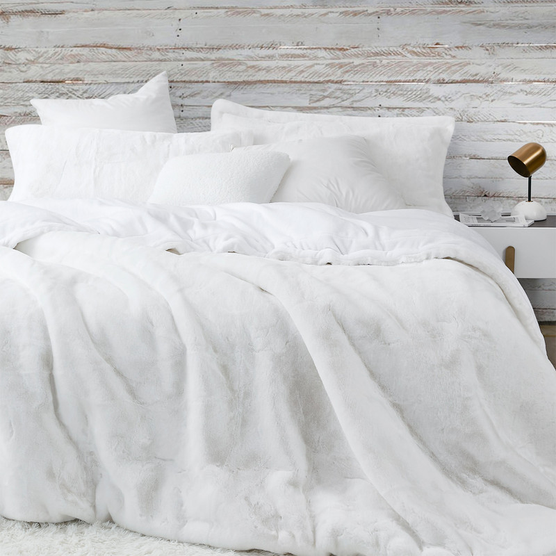 Easy to Wash White Queen XL or King XL Chunky Bunny Coma Inducer Bedding