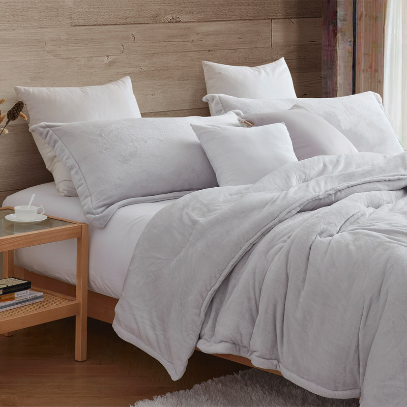 Neutral Gray Twin, Queen, or King Oversized Bedspread with Matching Standard/Queen or King Pillow Sham