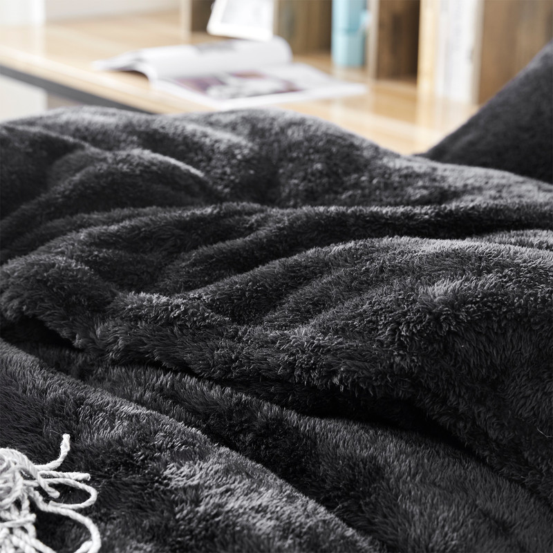 Black Twin, Full, Queen, or King Oversized Comforter Made with High Quality Bedding Materials