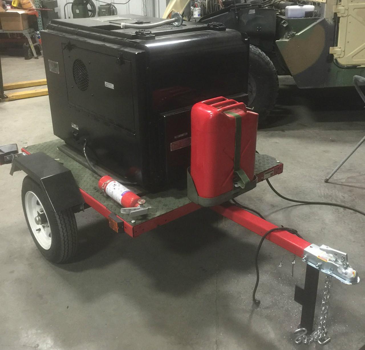 SOLD 3KW Diesel Trailer Mounted Generator