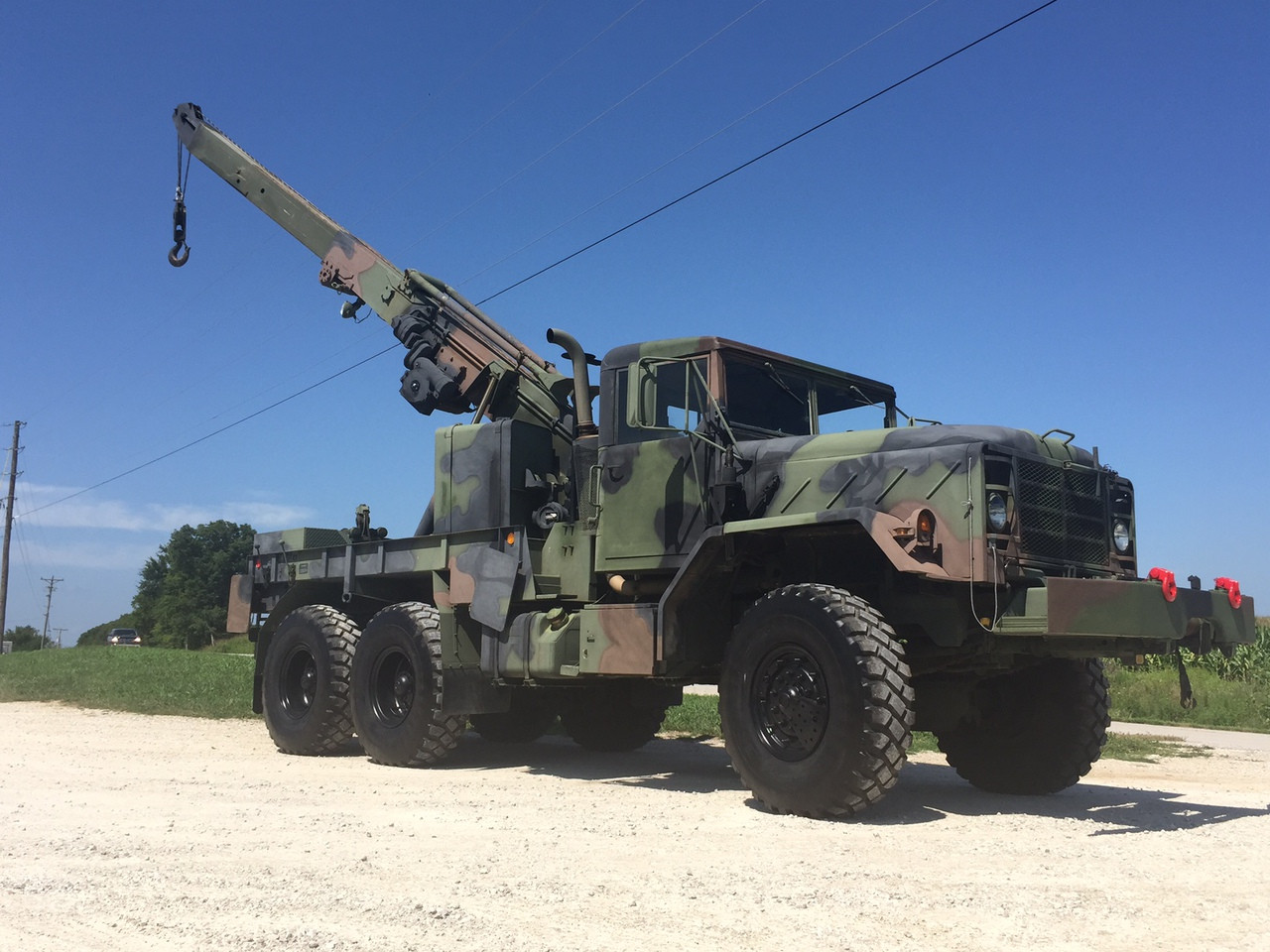M936A2 5 Ton Military Wrecker Crane Truck SOLD - Midwest Military Equipment