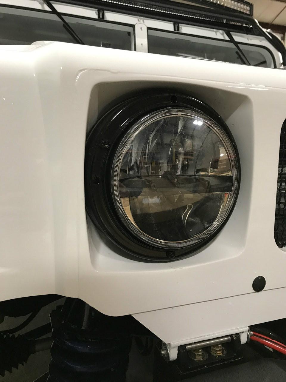 Military LED Headlight Kit Plug & Play 12 & 24V on