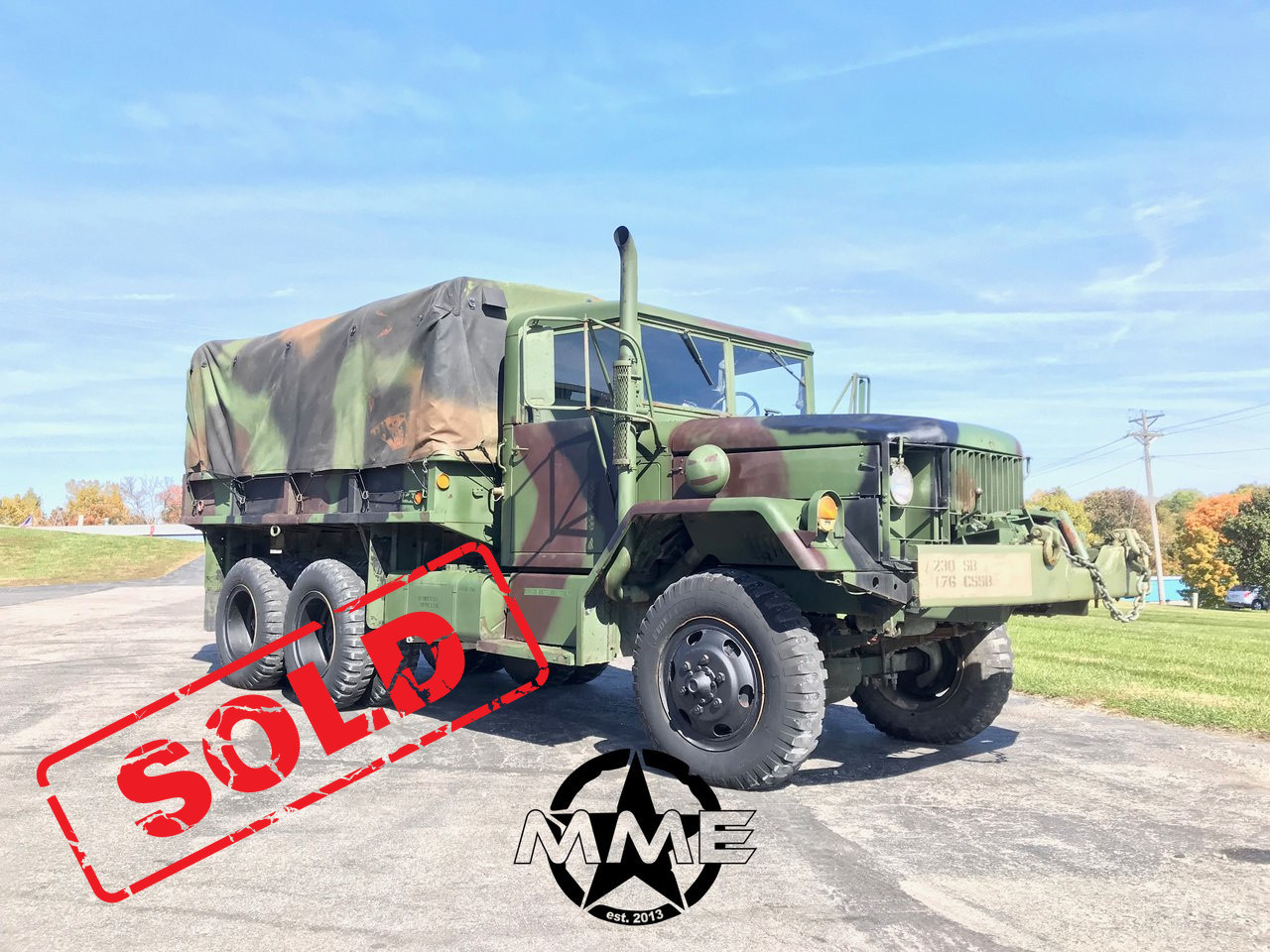 1977 2 1/2 TON M35A2 HARDTOP 6X6 MILITARY TRUCK W/Winch