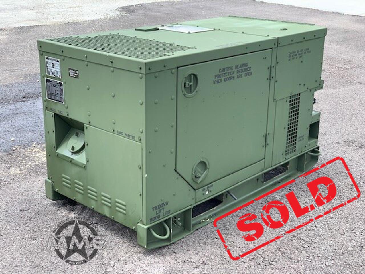 2011 Mep803a 10kw Diesel Quiet Generator 120 240 208 V Ac 60hz Midwest Military Equipment