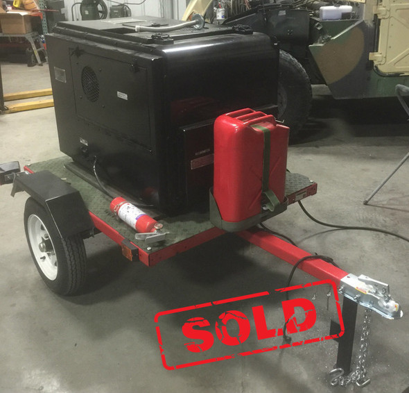 SOLD 3KW Diesel Trailer Mounted Generator