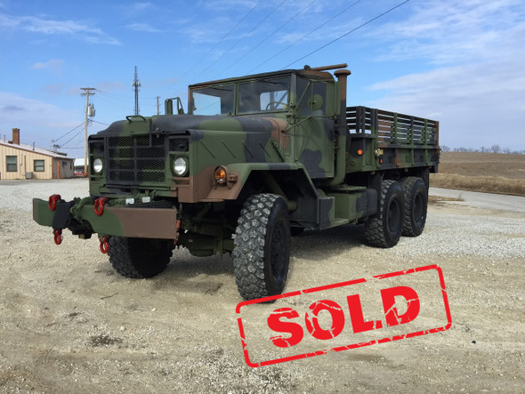 BMY M925a2 5 Ton Military Cargo Truck With Winch SOLD