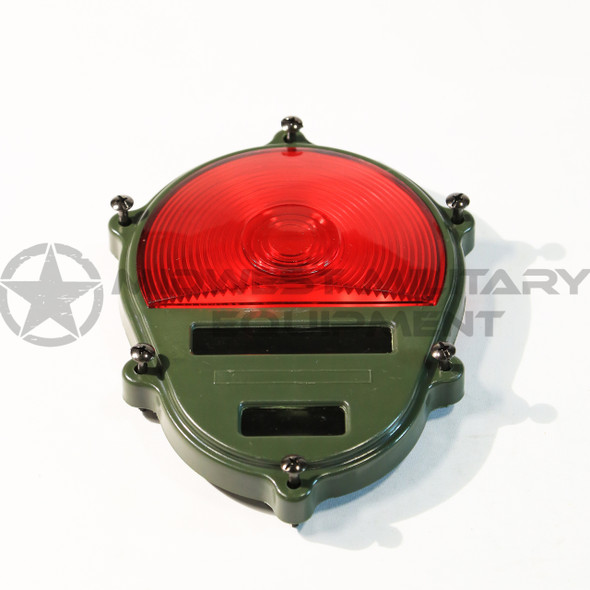 THIS IS NEW REAR TAIL LIGHT LENS ONLY FOR THE 2.5 TON M35A2 AND OTHER M SERIES VEHICLES. RED.