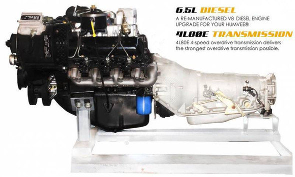 Complete Powertrain Upgrade Kit for Humvee HMMWV, 6.5L Non-Turbo & 4L80E, Pull Out