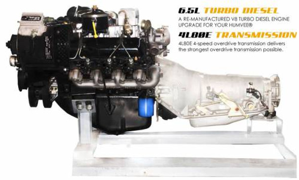 Complete Powertrain Upgrade Kit for Humvee, 6.5L Turbo & 4L80E, Pull Out