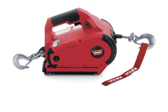 Warn 885030 Red 24V DC Cordless PullzAll Lifting and Pulling Tool 1 Battery