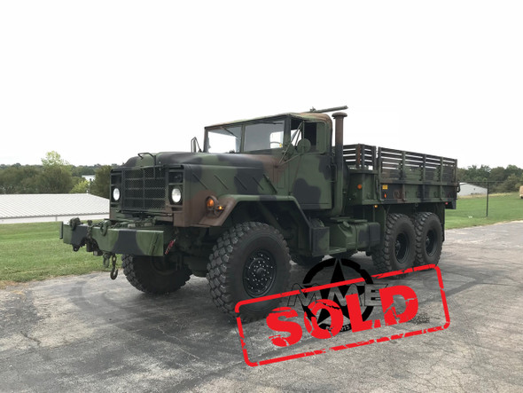 1990 BMY M925A2 5 TON MILITARY 6 X 6 Cargo TRUCK WITH WINCH  SOLD