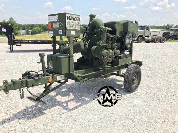 SOLD Trailer Mounted Diesel GORMAN-RUPP 604F Fuel & Water Military Pump