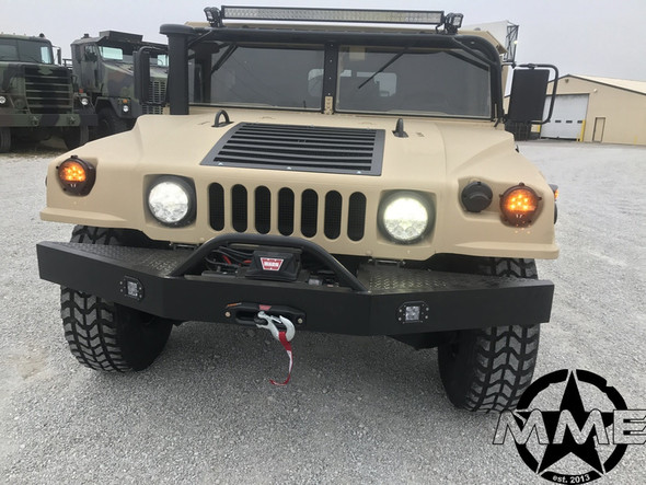 FRONT WINCH BUMPER WITH VR10 WARN WINCH for MILITARY HUMVEE HMMWV HUMMER