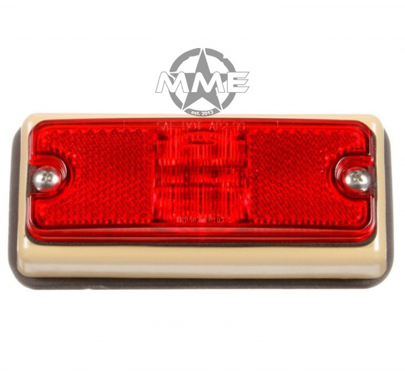 MILITARY LED RED Marker LAMP W/ TAN BRACKET (New Style)