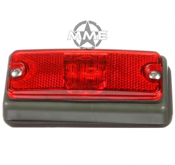 MILITARY LED RED Marker LAMP W/ GREEN BRACKET (New Style)