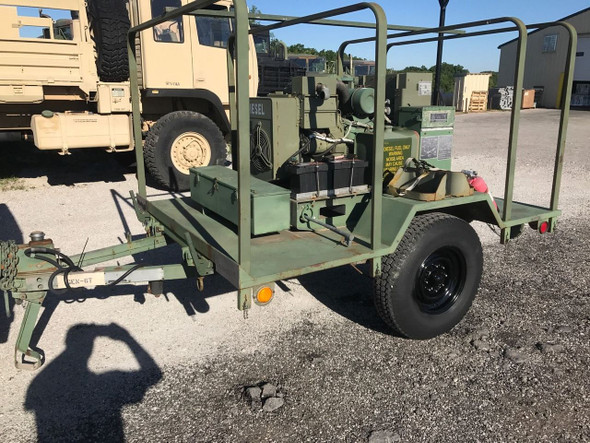 SOLD MILITARY MEP-002A 5KW 120 240 VAC 1 & 3 PHASE PORTABLE DIESEL GENERATOR TRAILER
