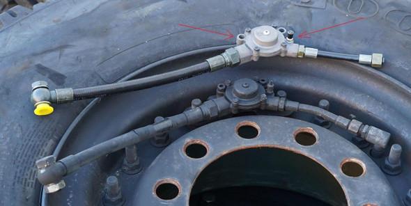 MILITARY LMTV FMTV TRUCK CTIS WHEEL RIM VALVE & AIR HOSE M1078 M1083 M1088 A1