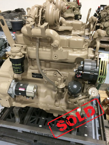 4039T JOHN DEERE DIESEL INDUSTRIAL ENGINE REMANUFACTURED