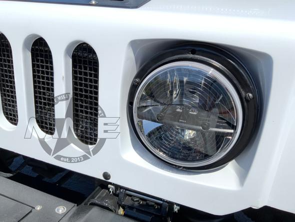 """7"""" LED 24V HEADLIGHT HEATED W/O BUCKET (Pair)"""