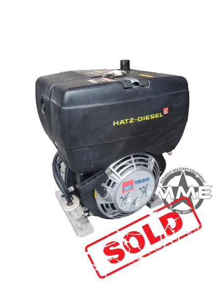 """Hatz 1B30 Diesel Engine Recoil Start EPA Tier IV 6.8HP, """"X"""" Crankshaft NOS"""