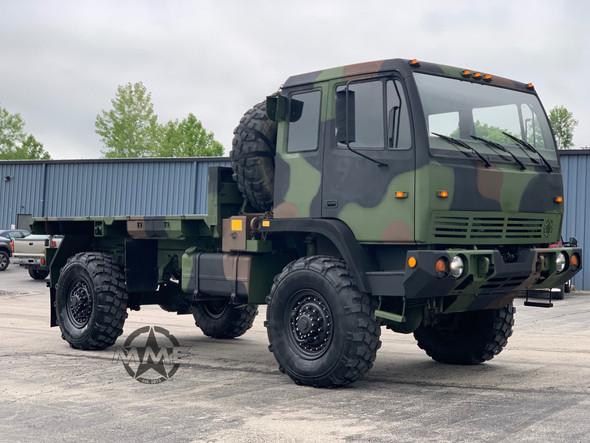 1994 Stewart & Stevenson M1078 4X4 2 1/2 Ton Flat Bed Cargo Truck