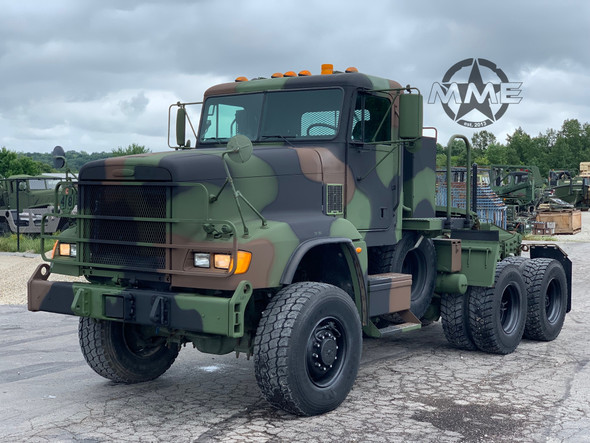 2007 M916A3 Freightliner 6x6 Semi Truck Tractor / 45,000LB Rear Winch