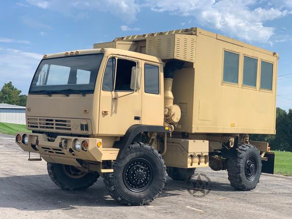 1995 Stewart & Stevenson M1079 2 1/2 Ton LMTV 4x4 Camper Truck.