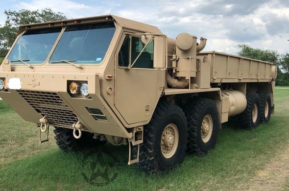 1984 M977 Oshkosh HEMTT 8X8 Truck With Material Handling Crane
