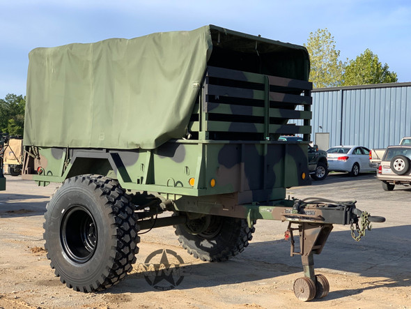 1993 M105a2 Cargo Trailer 1 1/2 Ton With 14.00R20 Super Singles